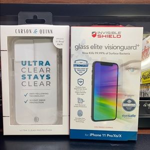 ZAGG screen protector + clear case Bundle New